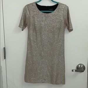 Gold river island dress, perfect for the holidays!